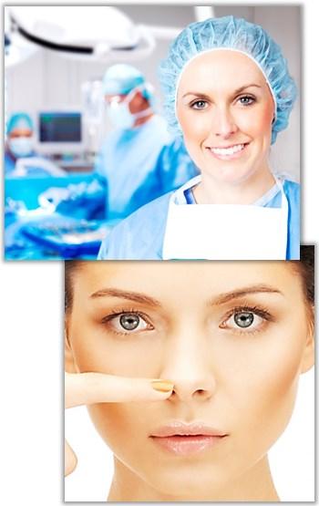 Operationsförlopp vid öppen och sluten näsplastik