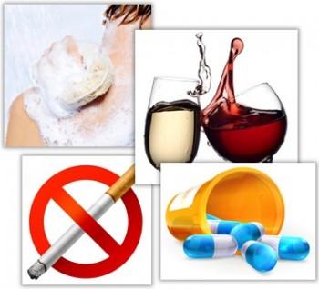 Regler för rökning, alkohol, mediciner vid ansiktslyft.