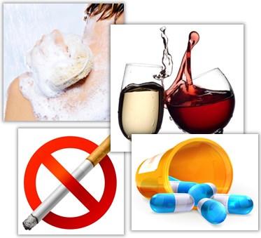 Regler för rökning, alkohol, mediciner etc. vid bröstförminskning