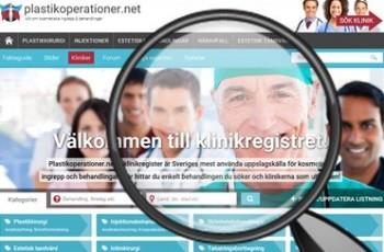 Hitta kliniker för hakplastik i klinikregistret