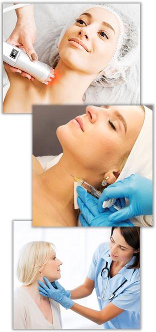 Behandling av rynkor på halsen